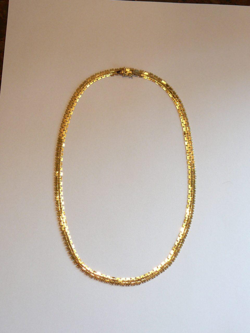 Lækker Guld collier 18k 750 Frank Frederiksen – Westmindeclassic.dk WR-33